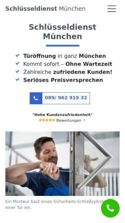 Vorschau der mobilen Webseite www.schluesseldienst-muenchen-24std.de, Schopper Sicherheitstechnik e.K.