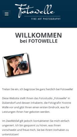Vorschau der mobilen Webseite www.fotowelle.ch, Fotowelle - Yvonne Wälle