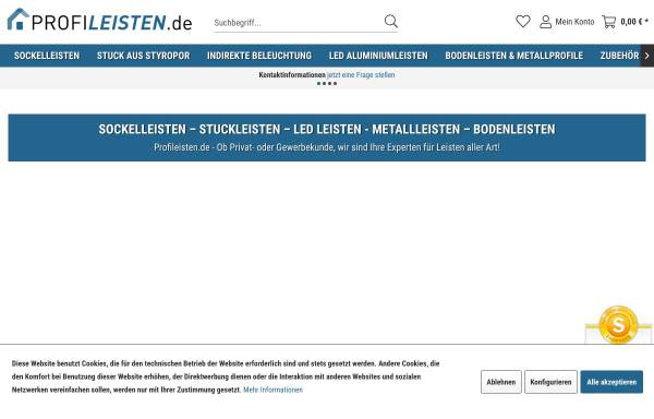 Vorschau von www.profileisten.de, VLD Trade GmbH