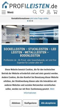 Vorschau der mobilen Webseite www.profileisten.de, VLD Trade GmbH