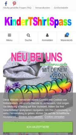 Vorschau der mobilen Webseite www.kindertshirtspass.de, kindertshirtspass