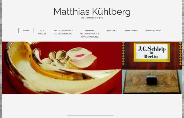 Vorschau von www.restaurierung-kuehlberg.de, Dipl.-Restaurator (FH) Matthias Kühlberg
