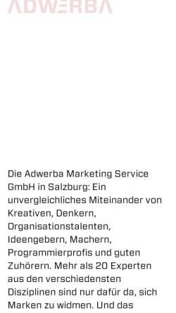 Vorschau der mobilen Webseite www.adwerba.at, Adwerba Marketing Service GmbH