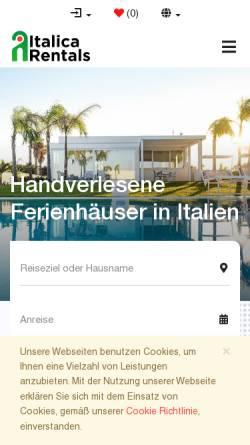 Vorschau der mobilen Webseite www.italica.de, italica e.K.