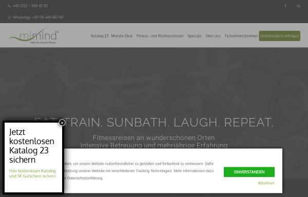 Vorschau von www.mimind.de, mimind Aktiv & Lifestyle Reisen GmbH