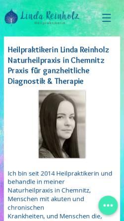 Vorschau der mobilen Webseite www.heilpotenzial.de, Heilpraktikerin Linda Reinholz - Praxis für ganzheitliche Diagnostik und Therapie