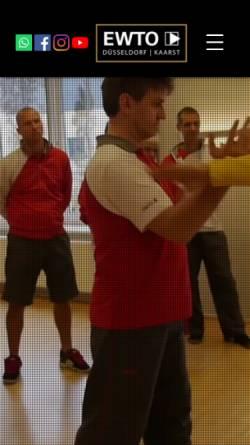 Vorschau der mobilen Webseite www.ewto-akademie-duesseldorf.de, EWTO WingTsun Akademie Düsseldorf