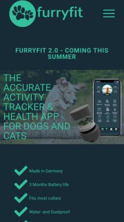 Vorschau der mobilen Webseite furryfit.de, furryfit
