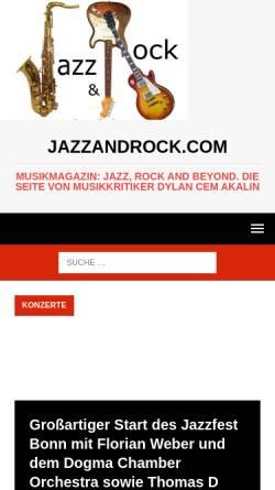 Vorschau der mobilen Webseite jazzandrock.com, jazzandrock.com