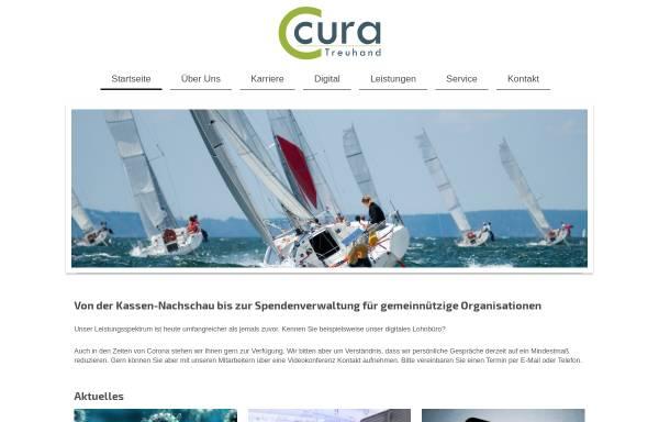 Vorschau von www.cura.gmbh, Cura Treuhand Steuerberatungsgesellschaft GmbH