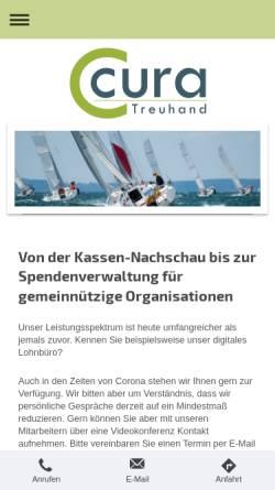 Vorschau der mobilen Webseite www.cura.gmbh, Cura Treuhand Steuerberatungsgesellschaft GmbH