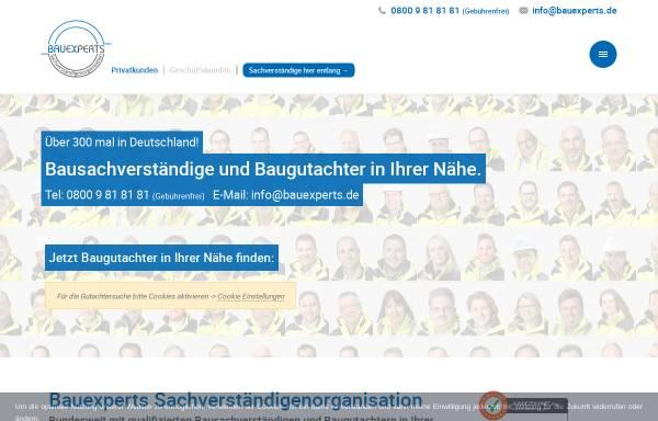 Vorschau von www.bauexperts.de, Bauexperts Sachverständigengesellschaft mbH