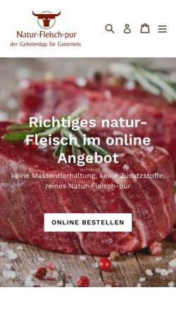 Vorschau der mobilen Webseite natur-fleisch-pur.com, Natur-Fleisch-Pur