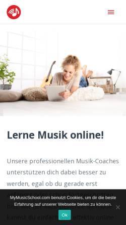 Vorschau der mobilen Webseite mymusicschool.com, MyMusicSchool GmbH