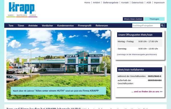 Vorschau von www.huth-tore.de, KRAPP