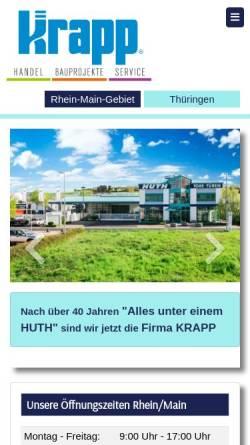 Vorschau der mobilen Webseite www.huth-tore.de, KRAPP