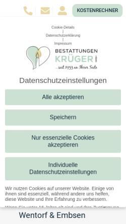 Vorschau der mobilen Webseite www.leverenz-bestattungen.de, E. Leverenz Bestattungen GmbH