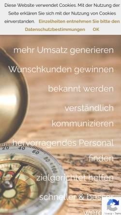 Vorschau der mobilen Webseite www.skipper-marketing.de, skipper marketing