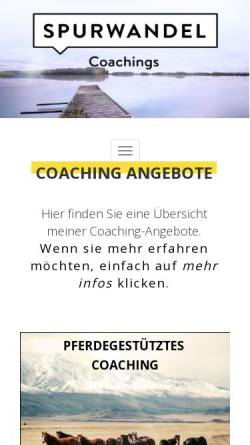 Vorschau der mobilen Webseite www.spurwandel.de, Spurwandel - Diana Brasse