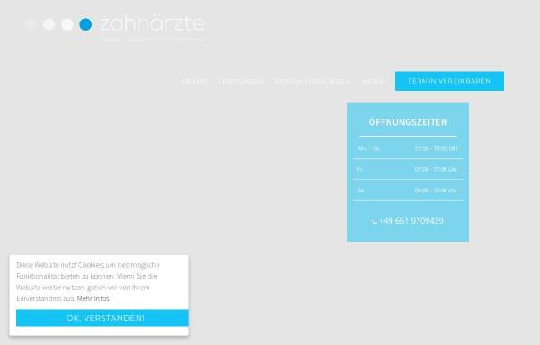 Vorschau von www.zahnarzt-dr-klaus.de, Zahnärzte Dr. Klaus & O. Baumann
