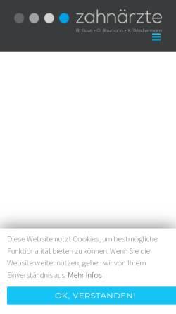 Vorschau der mobilen Webseite www.zahnarzt-dr-klaus.de, Zahnärzte Dr. Klaus & O. Baumann