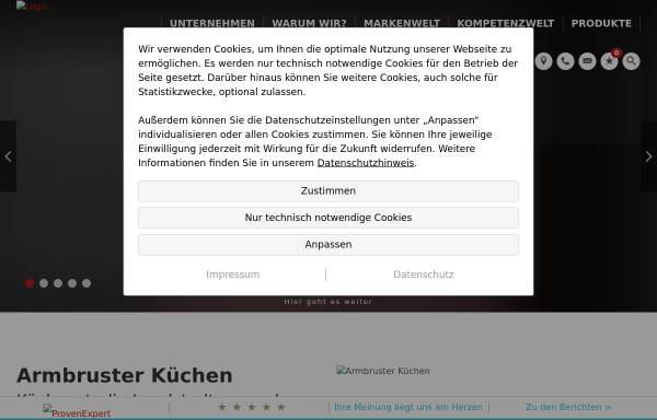 Vorschau von www.ak-kuechen.de, Armbruster Küchen GmbH