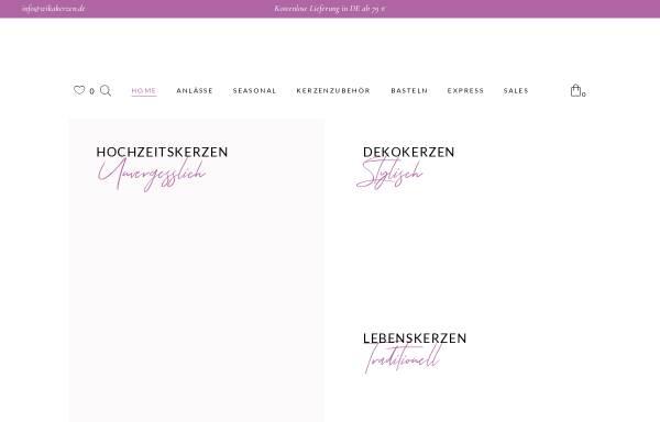 Vorschau von www.wika-kerzen.de, Wika Kerzen