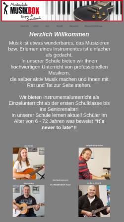 Vorschau der mobilen Webseite www.musikschule-musikbox.de, Musikschule Musikbox