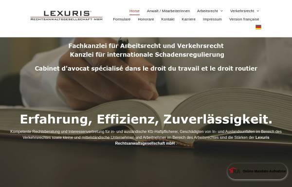 Vorschau von www.lexuris.de, Lexuris Rechtsanwaltsgesellschaft mbH