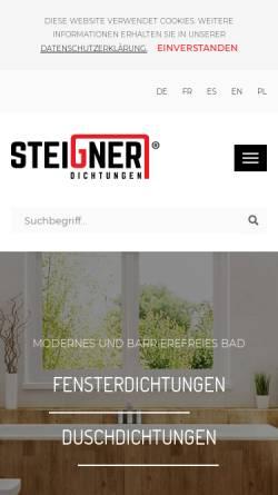 Vorschau der mobilen Webseite www.dichtungen-steigner.de, Steigner Dichtungen - JKB Handels GmbH