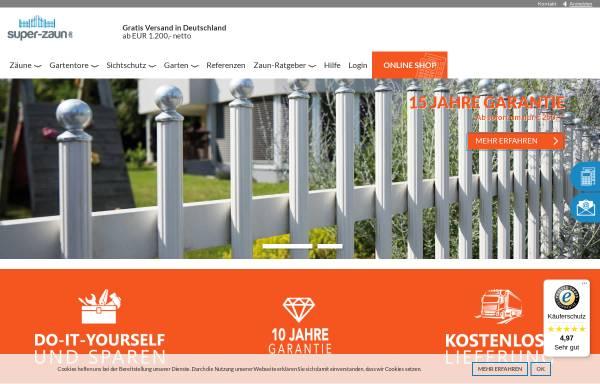 Vorschau von www.super-zaun.de, Super-Zaun GmbH