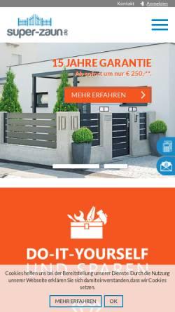 Vorschau der mobilen Webseite www.super-zaun.de, Super-Zaun GmbH