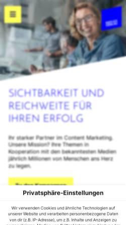 Vorschau der mobilen Webseite reflex-media.net, Reflex Verlag GmbH