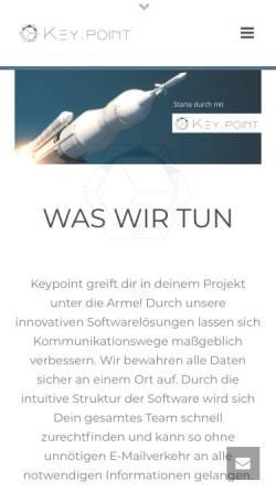 Vorschau der mobilen Webseite www.keypoint-company.de, Keypoint Visual Management GmbH