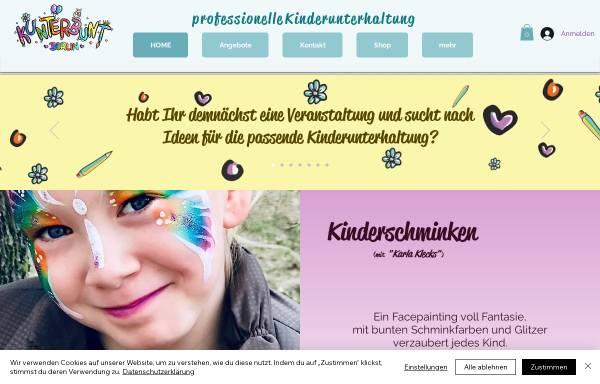 Vorschau von www.kunterbuntberlin.de, Kinderschminken in Berlin