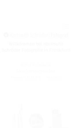 Vorschau der mobilen Webseite schroeder-fotografie.de, Hartmuth Schröder Fotografie