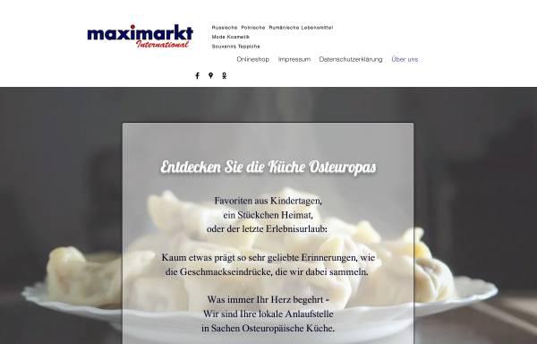 Vorschau von www.maxi-markt.eu, Maximarkt internationale Spezialitäten