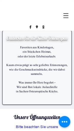 Vorschau der mobilen Webseite www.maxi-markt.eu, Maximarkt internationale Spezialitäten