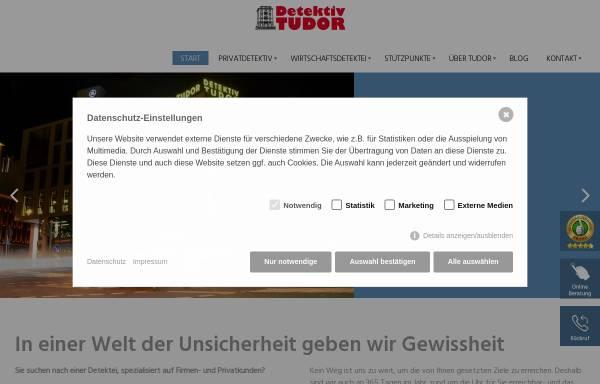 Vorschau von www.detektiv-tudor.com, TUDOR Detektei Köln