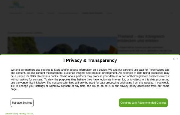 Vorschau von urlaub-in-thailand.com, Urlaub in Thailand