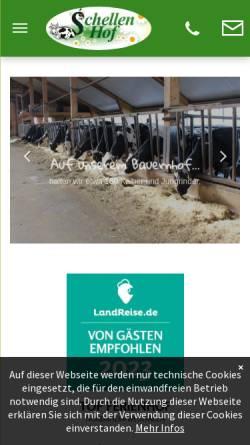 Vorschau der mobilen Webseite www.schellenhof.de, Schellen Hof - Ferienwohnungen