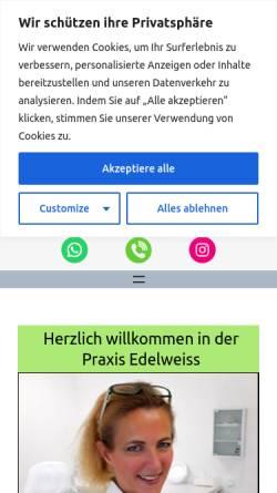 Vorschau der mobilen Webseite www.naturheilpraxis-edelweiss.de, Naturheilpraxis Edelweiß