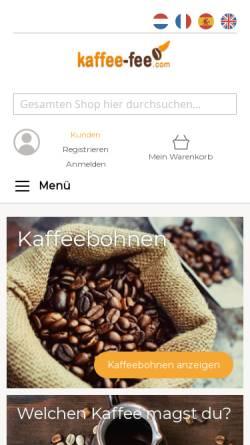 Vorschau der mobilen Webseite www.kaffee-fee.com, Kaffee-Fee