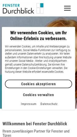 Vorschau der mobilen Webseite www.fensterdurchblick.com, Fenster Durchblick GmbH
