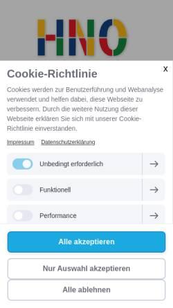 Vorschau der mobilen Webseite www.hno-hamburg-zentrum.de, HNO-Praxis Mönckebergstrasse - PD Dr. Marcos Sánchez Hanke