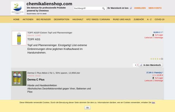 Vorschau von www.cheminox.de, Cheminox GmbH
