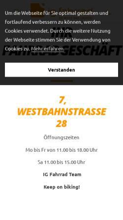 Vorschau der mobilen Webseite ig-fahrrad.at, IG-Fahrrad