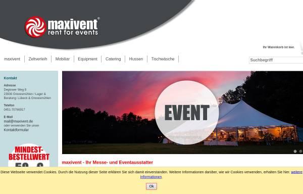 Vorschau von www.maxivent.de, maxivent UG