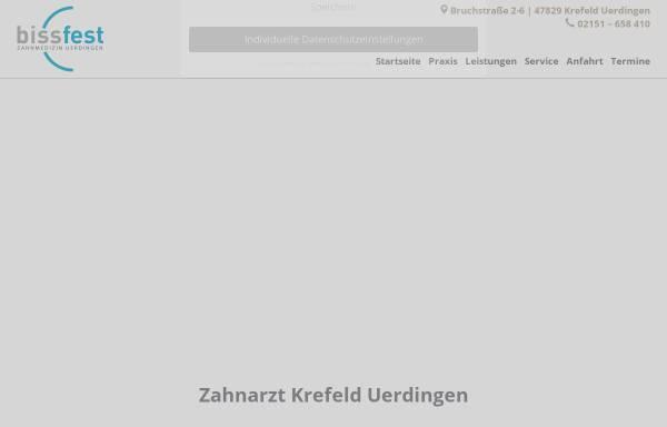 Vorschau von www.bissfest-uerdingen.de, Bissfest - Zahnarztpraxis Farzad Tooni
