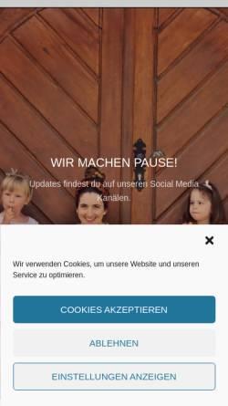 Vorschau der mobilen Webseite www.elfenfabrik.com, Elfenfabrik